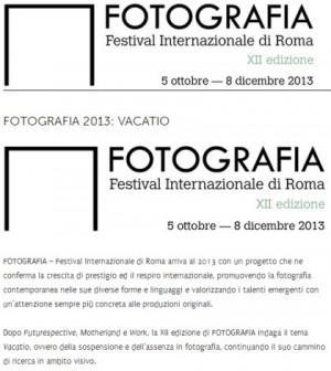 festival della fotografia 2013 di roma