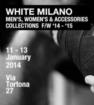 white milano fashion show